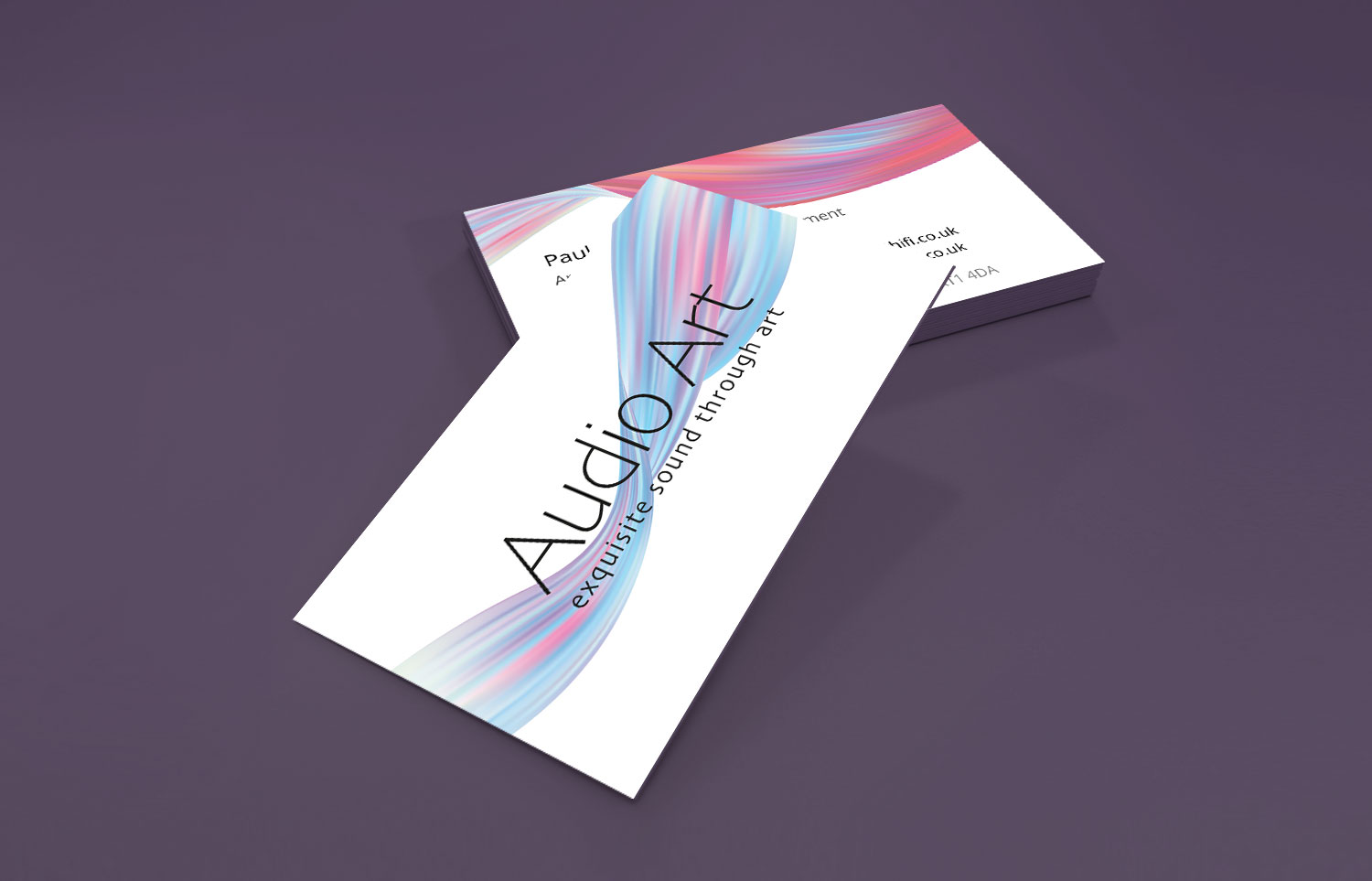 Audio Art Business cards