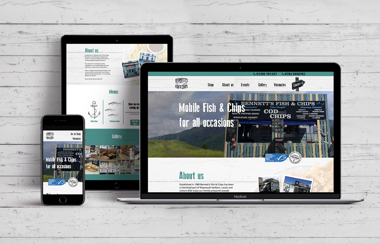 Bennetts Fish and Chips Website