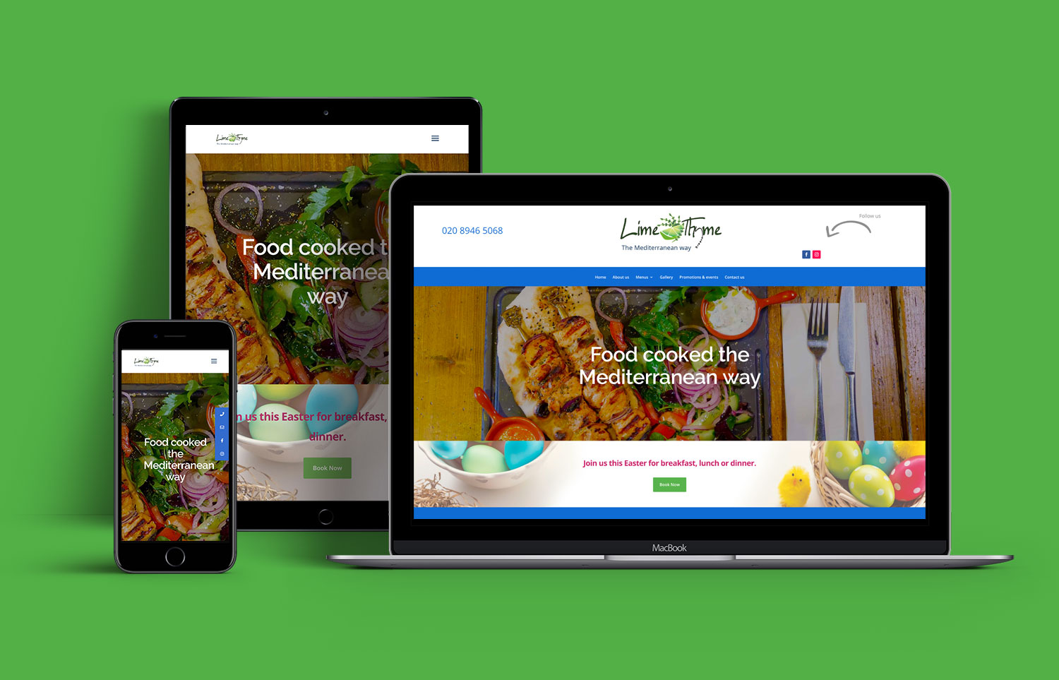 Lime and Thyme Website